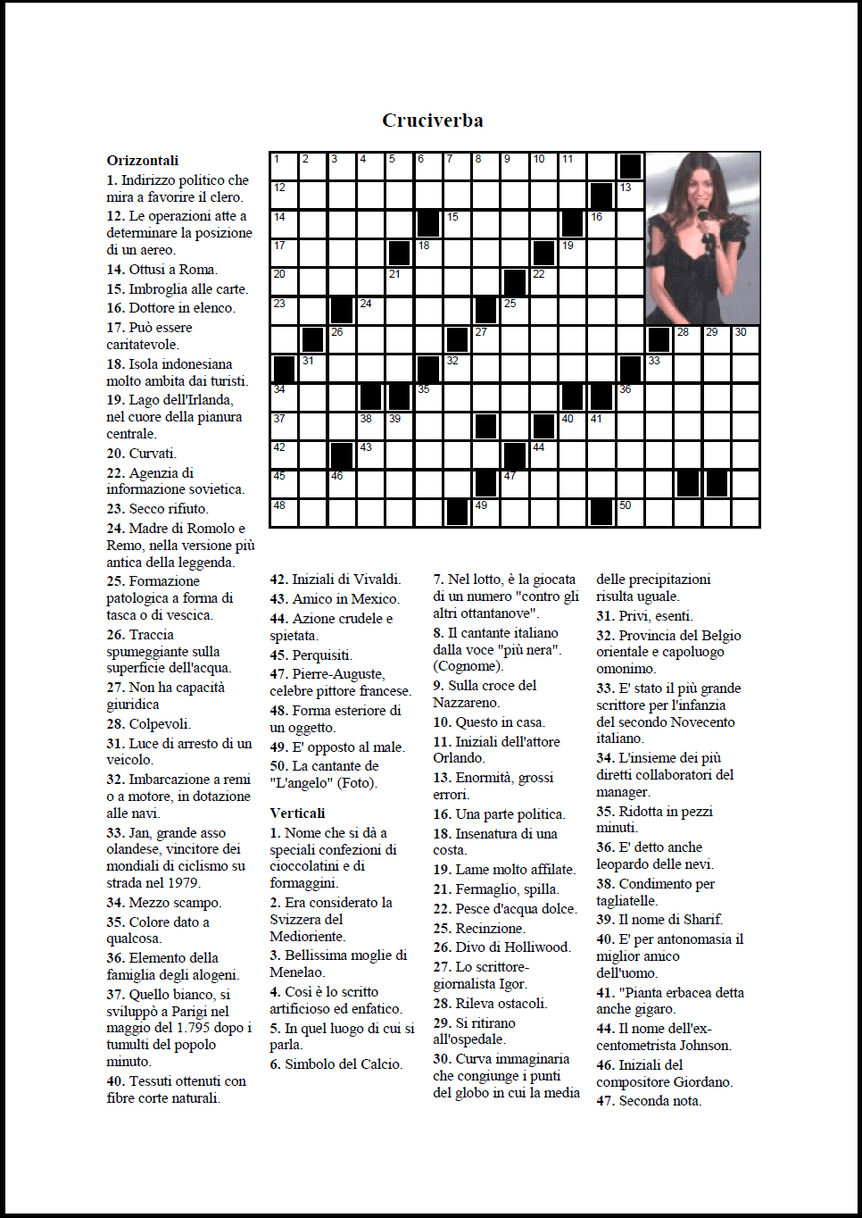 Crossword compiler funzionalit for Cruciverba da stampare