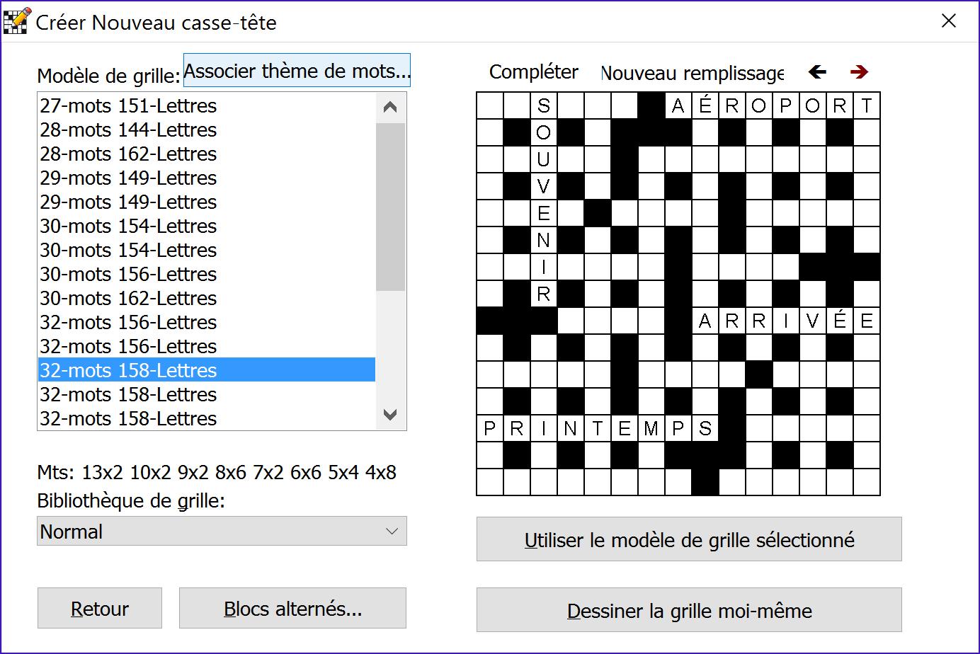 Crossword compiler remplisseur de grille professionnel - Construire une grille de mots croises ...