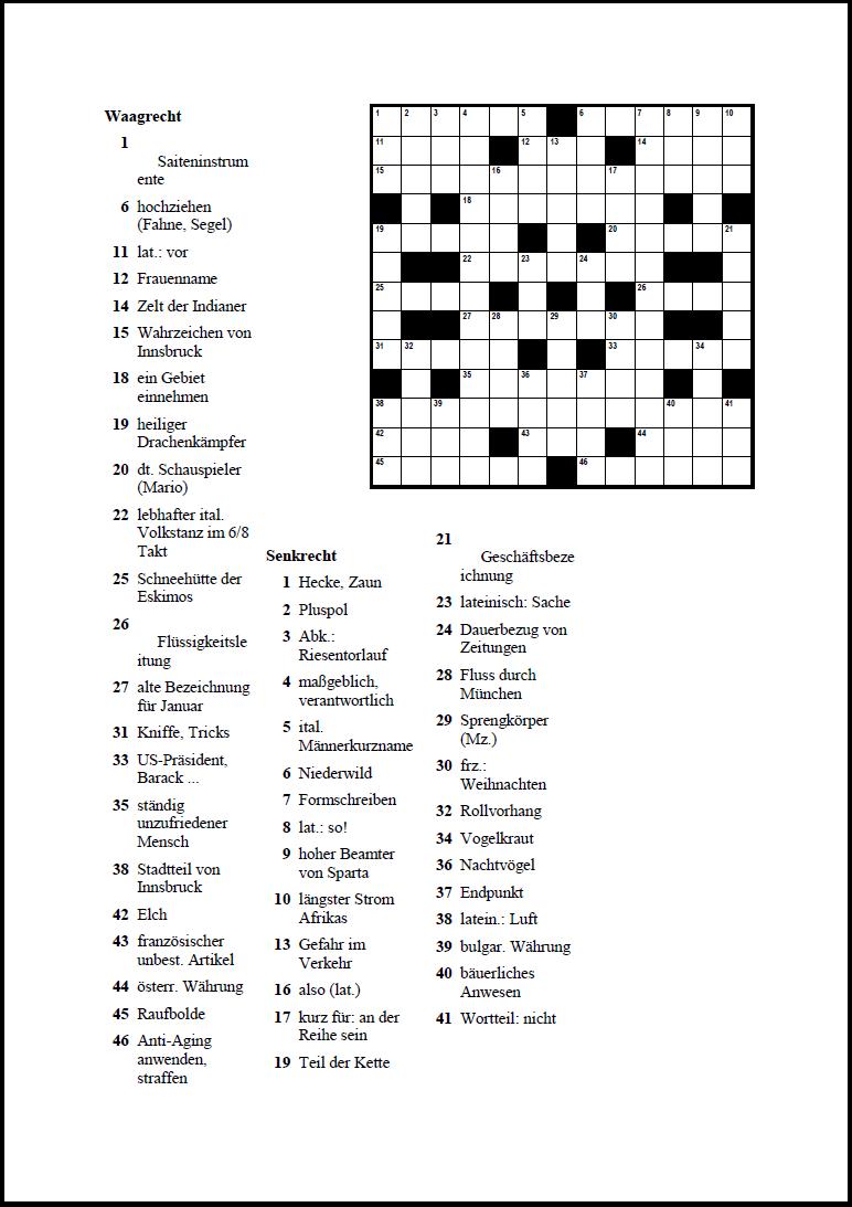 Crossword Compiler: Höhepunkte