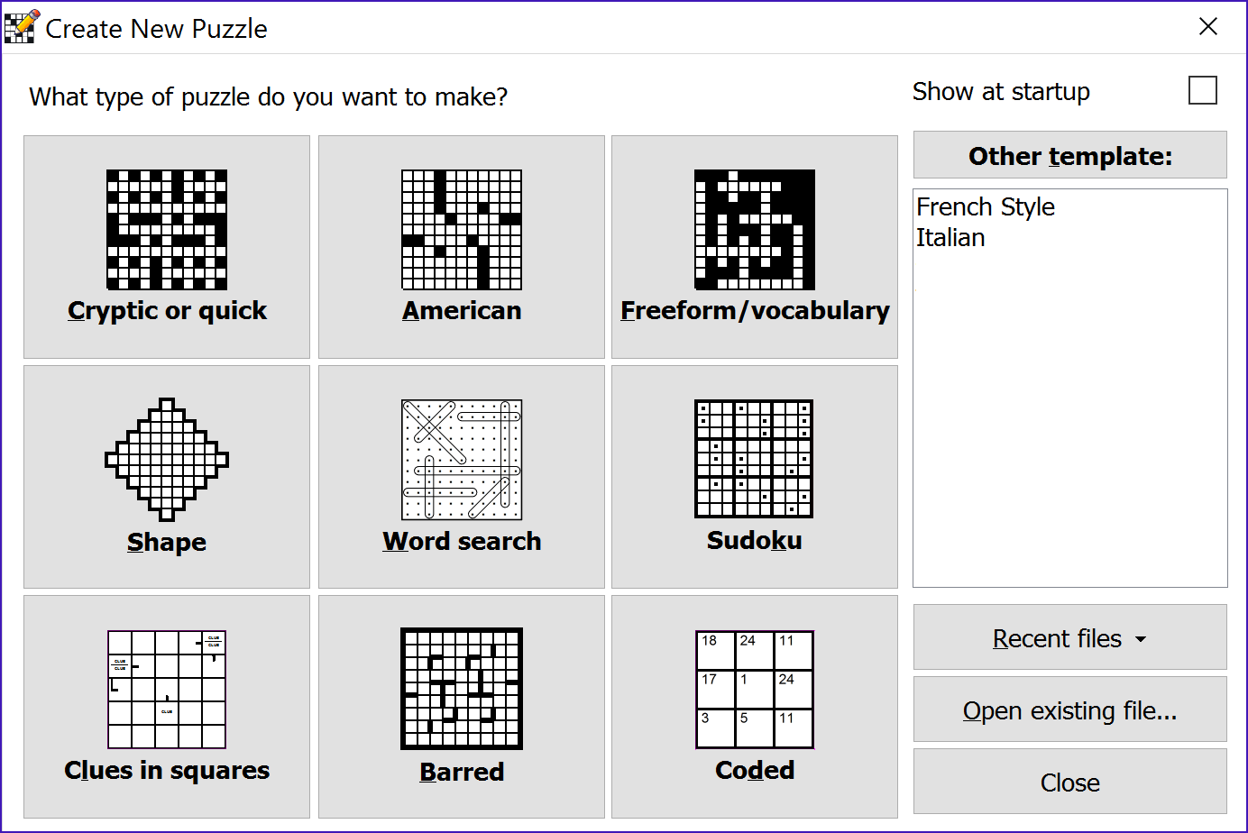 Crossword compiler features the new puzzle window solutioingenieria Choice Image
