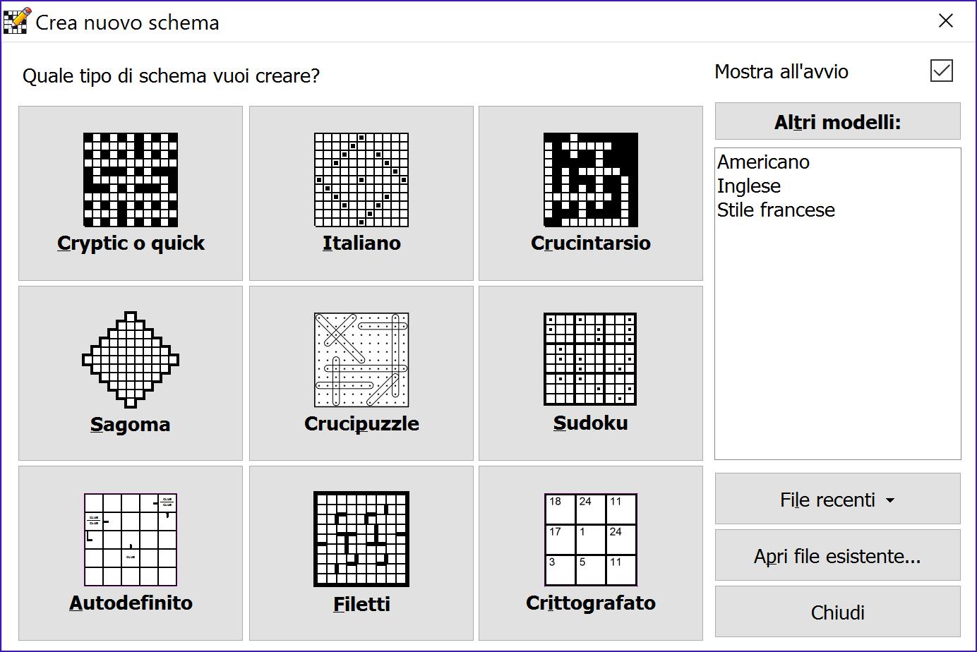 Crossword compiler funzionalit for Cruciverba facile da stampare